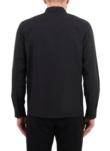 Hugo Boss  Düz Yaka Fermuarlı Gömlek Erkek Gömlek 50454745 001 Siyah
